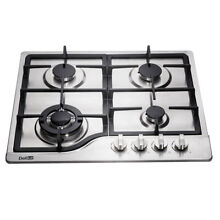Delikit 2B 24  4 burners gas cooktop gas hob NG LPG dual fuel sealed S S panel
