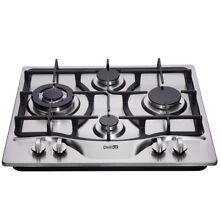 Delikit 3B 24  4 burners gas cooktop gas hob NG LPG dual fuel sealed S S panel