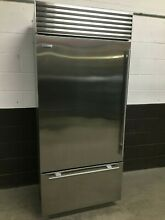 Sub Zero BI 36U S TH   36  Buit In Bottom Freezer Refrigerator Stainless