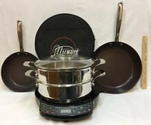 Nuwave Precision Induction Cooktop Model w  Fry Pans Steamer Combo 7 Pc   30121
