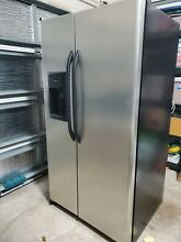 GE 25 3 cu FT Side by side Refrigerator GSL25JFXBLB  stainless Steel