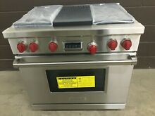 New Wolf DF364G   36  Professional Dual Fuel Range Stove 4 Burners   Griddle