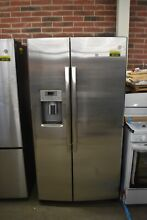 GE PZS22MSKSS 36  Stainless Side by Side Refrigerator  46131 HRT