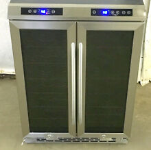 Avanti 24  French Door Dual Zone  Built In Wine Beverage Cooler WBV19DZ