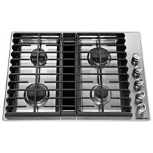 KitchenAid KCGD500GSS 30  Stainless Downdraft Gas Cooktop  46925 HRT