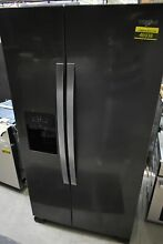 Whirlpool WRS325SDHV 36  Black Stainless Side By Side Refrigerator  46938 HRT