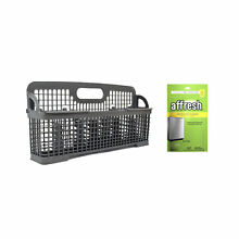 Kenmore W10190415 Dishwasher Silverware Basket and Affresh W10282479 Dishwasher