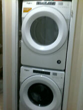 Whirlpool stackable washer dryer Brand new condition slightly used   27 wide  30
