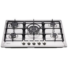 Delikit 02A 30  5 burners gas cooktop gas hob NG LPG dual fuel sealed S S panel