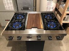 Watch Testing On YouTube  36  Viking  Professional Rangetop Cooktop W  Griddle