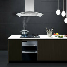 Island Mount Stainless Steel Kitchen Range Hood 870CFM LCD Touch Control 30 inch