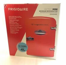 Frigidaire Red Retro Mini 6 Can 4L Portable Refrigerator EFMIS129 NIB Free Ship