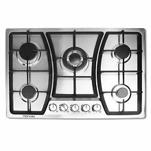 30 inches Gas Cooktop 5 Burners Gas Stove gas hob stovetop Stainless Steel Co