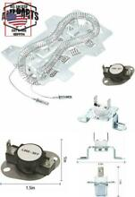 Dryer Repair Kit Heating Element Thermal Fuse Thermostat Replacement for Kenmore