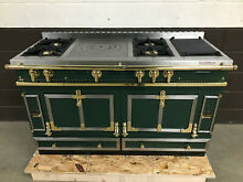LaCornue Chateau 150 Range Stove 58  Wide   Green with Brass Accents
