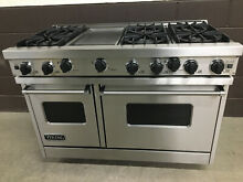 Viking 48  Professional Range VGIC485 6GSS Gas 6 Burners   Griddle Stainless