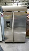 GE Monogram ZISS480DKSS 48  Stainless Side By Side Built In Refrigerator  41817