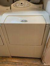 Maytag Neptune 27 Inch Gas Dryer with Electric Touch Pad Controls  Color  Bisque