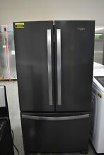 Whirlpool WRF535SWHV 36  Black Stainless French Door Refrigerator  50034 HRT