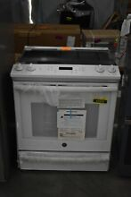 GE JS760DLWW 30  White Slide In Electric Range NOB  43686 HRT