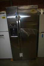 GE GSS23GSKSS 33   Stainless Side By Side Refrigerator NOB  41361 HRT