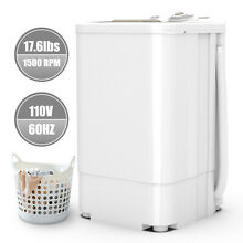 17 6 LBS Compact Spinner Mini Dryer Draining 1500 RPM Home Laundry Dorms White