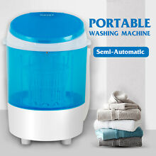 Mini Washing Machine Semi Automatic Spinner Dryer Portable Laundry Washer Blue