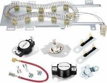 Heating Element Kit Thermostat Fuse Kenmore Whirlpool The Dryer Series Elite