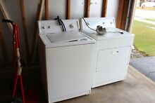 SEARS KENMORE WHITE  WASHER AND DRYER SET  GAS DRYER MINT LOW HOURS