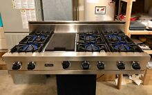 Watch Testing On YouTube  48  Viking  Pro Rangetop Cooktop W  Griddle Stainless