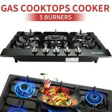 68cm 27  5 Burner Gas Cooktop Stainless Steel NG LPG Conversion Cook Top Stove