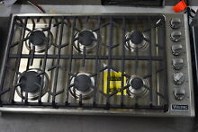 Viking VGSU5366BSS 36  Stainless 6 Burner Gas Cooktop NOB  33445 CLW