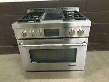 JennAir PRO JGRP536WP 36  Gas Range 4 Burners   Griddle Stainless