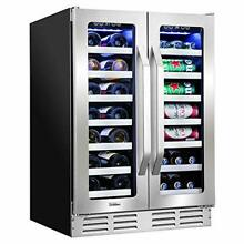 Ivation 40 Bottle Dual Zone 24  Built In Wine Cooler   Beverage Center Combo or