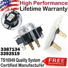3387134   3392519 Dryer Cycling Thermostat   Thermal Fuse for Whirlpool Maytag