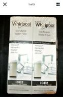 2 pack OEM Replacement for Ice Maker Water Filter Whirlpool ICE2   Open Box