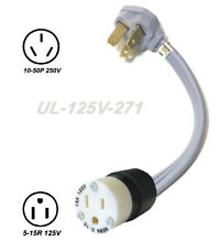 Voltage Adapter 10 50P Plug   5 15R Outlet Electric Stove Range to Gas Converter