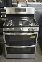 GE JGB860SEJSS 30  Stainless Double Oven Gas Range  92005 MAD