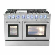 48  Ranges   Stoves 6 Burner Gas Range With Double Oven and Griddle Built In USA