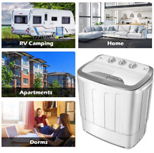 Portable Washing Machine Twin Tub RV Apt Mini Small Washer Spin Dryer Compact