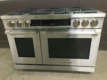 Dacor HDPR48S NG 48  Dual Fuel Range Professional 6 Burners Stainless Steel