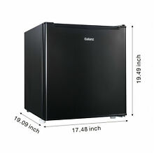 Compact Small Mini Fridge Refrigerator Freezer 1 7 cu ft Office Dorm Game Black