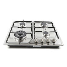 23  4 Burners Gas Cooktop Built in LPG NG Gas Hob Cook Top Stainless Steel New