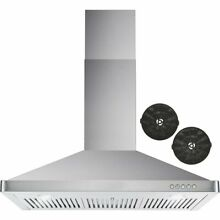 Cosmo 36  380 CFM Ductless Wall Mount Range Hood in Stainless Steel