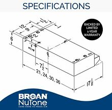 Broan Nutone 413604 36 Inch Ductless Under Cabinet Range Hood Stainless Steel
