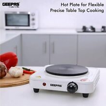 Geepas 1000W Single Hot Plate for Flexible   Precise Table Top Cooking Hob Plate