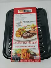 Range Kleen Porcelain on Steel Broiler Pan and Grill 2 Piece Set NEW Heavy Duty
