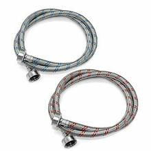 AMI PARTS Stainless Steel Washing Machine Hoses 4Ft Long No Lead Burst Proof