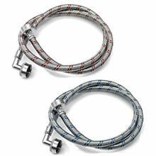 AMI PARTS Washing Machine Hoses with 90 Degree Elbows 4Ft Long Stainless Stee