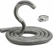 12 ft Universal Washing Machine Drain Hose  Heavy Duty Washer Hose with Clamp